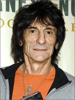In this Oct. 31, 2007 file photo, Rolling Stones guitarist Ronnie Wood is shown in New York. (AP Photo/ Louis Lanzano, file)