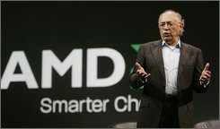 Advanced Micro Devices CEO Hector Ruiz gives a presentation in San Francisco during a conference, Nov. 12, 2007.  Ruiz was pushed aside Thursday, July 17, 2008, after six tumultuous years as CEO of Advanced Micro Devices Inc., as the chip maker tries to pull itself out of a deep financial hole caused by a questionable acquisition and a major product gaffe.  AMD also reported its second-quarter loss widened as the computer chip maker was hurt by a large asset impairment charge from discontinued operations. (AP Photo/Paul Sakuma)
