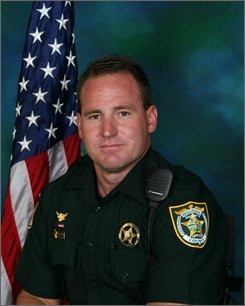 Deputy Anthony Forgione,33, is shown in this undated photo provided by the Okaloosa County Sheriff's Department in Fort Walton Beach, Fla. Forgione was shot and killed on Tuesday July 22, 2008 during a shooting standoff at a home in Fort Walton Beach. He was the second Florida officer in less than a week to be killed in the line of duty. ((AP Photo/Mari Darr~Welch