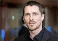  In this July 21, 2008 file picture, British actor Christian Bale arrives for the European Premiere of 'The Dark Knight', in central London. The actor was to be questioned by police over allegations he assaulted his mother and sister the night before the European premiere of his film, 'The Dark Knight', British media reported Tuesday, July 22, 2008.  (AP Photo/Joel Ryan)