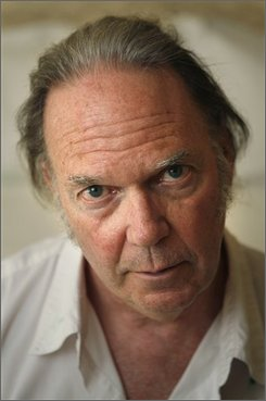 Neil Young poses for a picture in New York, Wednesday, July 16, 2008.  (AP Photo/Seth Wenig)
