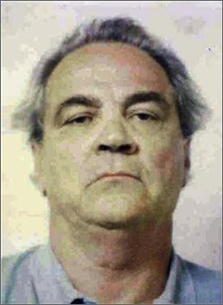 "An undated file photo provided by the U.S. Attorney's office, Northern District of Illinois, shows alleged mob enforcer Frank ""The German"" Schweihs. Schweihs, 78, died Wednesday, July 23, 2008, while awaiting trial on federal charges that he took part in a racketeering conspiracy and took part in two long-unsolved mob murders. (AP Photo/U.S. Attorney's office, Northern District of Illinois, File)"
