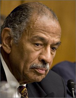 House Judiciary Committee Chairman John Conyers, D-Mich., presides over a hearing of the committee on Capitol Hill in Washington, Friday, July 25, 2008, to review President Bush's term. (AP Photo/J. Scott Applewhite)