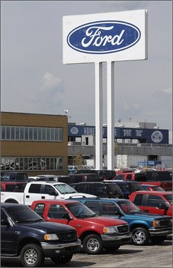 Ford's Louisville Assembly Plant, Thursday, July 24, 2008, in Louisville, Ky., where the automaker will begin production of smaller, fuel-efficient cars to sell in the United States by 2011, Louisville Mayor Jerry Abramson and Kentucky Gov. Steve Beshear said Thursday. (AP Photo/Brian Bohannon)