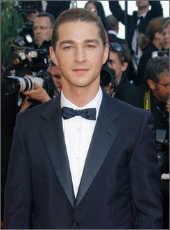 """In this May 18, 2008 file photo, actor Shia LaBeouf arrives for the premiere of the film """"Indiana Jones and the Kingdom of the Crystal Skull"""" during the 61st International film festival in Cannes, southern France. Officers in Los Angeles say LaBeouf has been arrested for drunk driving following a car accident in Hollywood early Sunday July 27, 2008. (AP Photo/Evan Agostini, File)"""