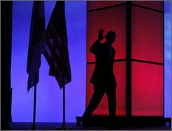 Democratic presidential candidate, Sen. Barack Obama, D-Ill., waves as he arrives at the National Urban League Annual Conference in Orlando, Saturday, Aug. 2, 2008. (AP Photo/Jae C. Hong)