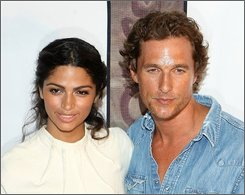 In this Aug. 7, 2008 file photo, actor Matthew McConaughey and Camila Alves attend the Muxo Private Launch Party  in Los Angeles. (AP Photo/Shea Walsh, file)