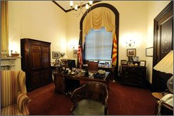 The Capitol Hill office of Republican Presidential candidate Sen. John McCain, R-Ariz., Monday, July 21, 2008, in Washington  oozes comfy clutter and informality