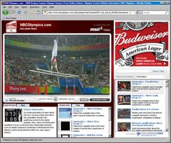 Shown is a screen shot of NBC's video player on NBCOlympics.com. (AP Photo)
