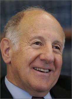  California Chief Justice Ronald George smiles during an interview in his office in San Francisco, Friday, July 11, 2008. George has spent more than half his life in a black robe carefully cultivating an image of a cautious jurist and earning a reputation as a politically skilled court administrator. But his unlikely legacy as gay civil rights pioneer was sealed at 10 a.m. on May 15, 2008 when his majority decision legalizing same-sex marriage was announced. (AP Photo/Paul Sakuma)