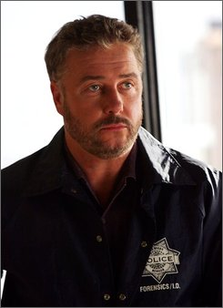 "In this image released by CBS, William Petersen is shown in character on ""CSI"