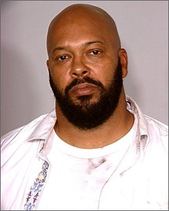 "This photo released by the Las Vegas Metropolitan Police Department shows rap music mogul Marion ""Suge"" Knight after he was arrested Wednesday, Aug. 27, 2008, in Las Vegas. The 43-year-old Knight was arrested on charges of assault with a deadly weapon, possession of a controlled substance, possession of dangerous drugs without a prescription and battery domestic violence. (AP Photo/Las Vegas Metropolitan Police Department)"