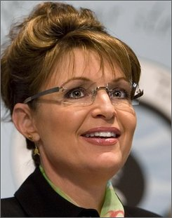 In this Feb. 26, 2008 file photo, Alaska Gov. Sarah Palin speaks on behalf of victims of the Exxon Valdez oil spill and their supporters at a news conference at the National Press Club in Washington. (AP Photo/J. Scott Applewhite/File)