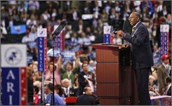 Michael Steele, chairman of GOPAC and former lieutenant governor of Maryland, speaks at the Republican National Convention in St. Paul, Minn., Wednesday, Sept. 3, 2008.  (AP Photo/Charles Dharapak)