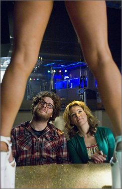 "In this image released by The Weinstein Co., Seth Rogen, left, and Elizabeth Banks are shown in a scene from ""Zack & Miri Make A Porno."" (AP Photo/The Weinstein Co., Darren Michaels)"