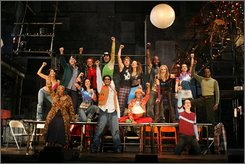 In this image released by Richard Kornberg & Associates, the cast of Rent is shown. (AP Photo/Richard Kornberg & Associates, Joan Marcus)