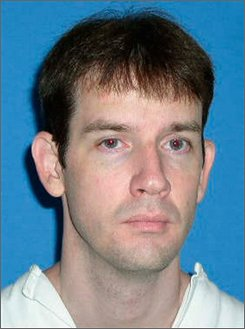 This photo provided by the Texas Department of Criminal Justice shows death row inmate Charles Hood who is scheduled for execution at the Texas prison in Huntsville, Wednesday, Sept. 10, 2008. Lawyers representing Hood claim the judge and prosecutor were having an affair during his murder trial asked the state's highest appeals court Monday to halt this week's execution, saying the judge's extensive history of recusing herself from the prosecutor's cases shows a relationship between the two. (AP Photo/Texas Department of Criminal Justice)