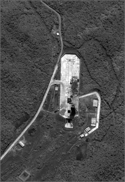 In this image provided by DigitalGlobe, this satellite view, made on June 22, 2008, shows part of the Tongch'ang-dong facility near Pongdong-ni, North Korea. North Korea is building a second and larger, more capable missile launch facility on its west coast from which it will be able to fire intercontinental ballistic missiles or rockets to put satellites into orbit, according to independent analysts who discovered the site and have tracked its construction using commercial and unclassified satellite imagery. (AP Photo/DigitalGlobe)