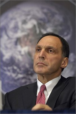 In this Jan. 22, 2007 file photo, Lehman Brothers Holdings Inc. Chairman and Chief Executive Officer Richard Fuld, Jr., takes part in a news conference at the National Press Club in Washington.  Lehman Brothers said Wednesday, Sept. 10, 2008, it will sell a majority stake in its prized investment management business and spin off its commercial real estate operations in a dramatic effort aimed at helping it survive the credit crunch. (AP Photo/Kevin Wolf, file)
