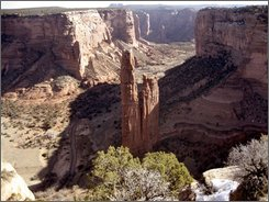 This March 14, 2008 file photo shows Canyon de Chelly National Monument in Arizona. The Navajo Nation is seeking full control of the 83,000-acre Canyon de Chelly monument and the more than $1.8 million in federal funding that goes with it. (AP Photo/Paul Foy, File)