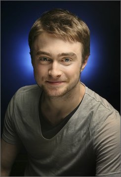 Actor Daniel Radcliffe poses for a picture in New York, Thursday, Sept. 11, 2008.  (AP Photo/Seth Wenig)