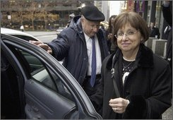 A Dec. 8, 2004 file photo shows Joyce and Stanley Boim outside federal court in Chicago. The Boims 17-year-old son, David, was shot and killed by terrorists on Israel's West Bank in 1996. A three-judge panel of the 7th U.S. Circuit Court of Appeals in December 2007 threw out a lower court's order that requiring a number of U.S.-based Islamic activists to pay a whopping $156 million, but now  the appeals court is second-guessing itself and revisiting the emotionally charged case. (AP Photo/M. Spencer Green, File)