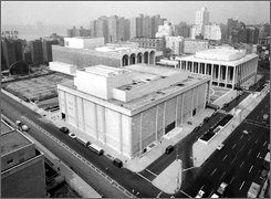  This undated aerial view shows Lincoln Center for the Performing Arts in New York.  Lincoln Center for the Performing Arts is throwing a yearlong bash in 2009 to celebrate its 50th anniversary. (AP Photo)