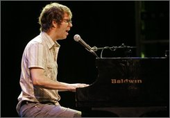  Ben Folds is seen during rehearsal with Ben Folds Five for Saturday's concert at Memorial Hall in Chapel Hill, N.C., Wednesday, Sept. 17, 2008. The Ben Folds Five concert this weekend in Chapel Hill is part reunion and part farewell. (AP Photo/Gerry Broome)