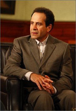 "In this image released by USA Network, Tony Shalhoub stars as Adrian Monk in the USA original series, ""Monk.""  (AP Photo/USA Network, Trae Patton)"