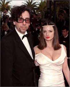 In this May 11, 1997 file photo director Tim Burton arrives with actress Lisa Marie at the Festival Palace in Cannes. (AP Photo/Remy de la Mauviniere, file)
