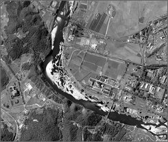 This satellite image provided by DigitalGlobe, shows the Yongbyon nuclear facility in North Korea, seen on Sept. 21, 2008. The Bush administration warned Wednesday, Sept. 24, 2008, that North Korea would isolate itself from the world community if it backtracks and reactivates the Yongbyon plant that once provided plutonium for an atomic test explosion. (AP Photo/DigitalGlobe)
