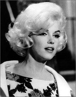 "Actress Marilyn Monroe is shown on the set of her last movie, ""Something's Got To Give,"" in Los Angeles in this April 1962, file photo.  (AP Photo, file)"