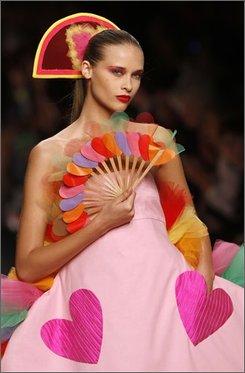 A model wears a creation part of the Agatha Ruiz de La Prada Spring/Summer 2009 fashion collection presented in Milan, Italy, Friday, Sept. 26  2008. (AP Photo/Luca Bruno)