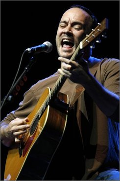In this Aug. 24, 2008 file photo, musician Dave Matthews performs at the Green Sunday At Red Rocks Democratic National Convention welcoming concert in Morrison, Colo. (AP Photo/Matt Sayles, file)