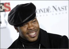 "In this Dec. 2, 2007 file photo, Busta Rhymes arrives at ""Movies Rock"