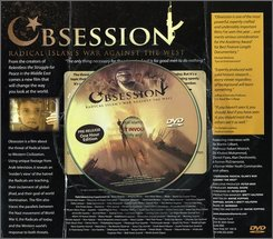 """This is a scanned image of a Clarion Fund-sponsored newspaper advertising supplement containing a DVD called """"Obsession"""