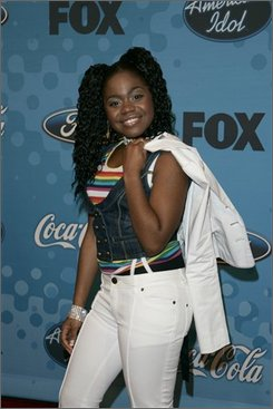 In a March 9, 2006, file photo American Idol, season five contestant, Paris Bennett, 17, of Fayetteville, Ga., arrives to a finalist party at the Pacific Design Center in Los Angeles.  Bennet gave birth to a daughter named Egypt on Monday, Oct. 6, 2008. (AP Photo/Branimir Kvartuc)