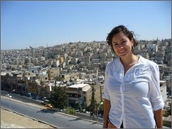 Undated photo of missing American journalist  Holli Chmela released Wednesday, Oct. 8. 2008 by the Jordan Times newspaper where she worked as a freelancer reporter, in Amman, Jordan. The U.S. Embassy in Lebanon said two Americans journalists are missing in Lebanon and is appealing for information on their whereabouts. An embassy statement Wednesday says Holli Chmela, 27, and Taylor Luck, 23, have not been heard from since Oct. 1 when they reportedly left Beirut en route to the northern port city of Tripoli. Lebanese security officials told The Associated Press they are searching for the two. The pair arrived in Lebanon on Sept. 29 from Amman, Jordan for a vacation and told a friend on Oct. 1 that they were traveling from Beirut to Tripoli that day.(AP Photo/Jordan Times/HO)