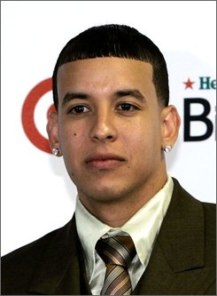 In this April 10, 2008 file photo, singer and producer Daddy Yankee as shown at the Latin Billboard Music Awards in Hollywood, Fla. (AP Photo/Wilfredo Lee, file)