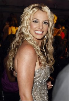 In this Sept. 7, 2008 file photo, Britney Spears is seen at the 2008 MTV Video Music Awards held at Paramount Pictures Studio Lot in Los Angeles. (AP Photo/Matt Sayles, file)