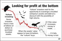 Graphic explains vulture investing;