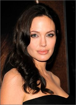 """In this Oct. 4, 2008 file photo, actress Angelina Jolie attends a New York Film Festival screening of """"Changeling"""" at the Ziegfeld Theatre in New York. (AP Photo/Evan Agostini, file)"""