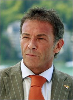 This Aug. 9, 2008, file photo shows Joerg Haider, top candidate of the Alliance for the future of Austria, BZOE, for Sunday's national elections in Austria in Klagenfurt. Haider died in a car accident early Saturday morning Oct. 11, 2008 in the south of the country  police said. Haider, 58, was governor of Carinthia and leader of the far-right Alliance for the Future of Austria at the time of his death.  (AP Photo/Gert Eggenberger, file)