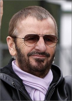 This is  Jan. 11, 2008, file photo of former member of the Beatles, Ringo Starr  in Liverpool, England .  Ringo Starr doesn't want to hear from you.  If you do write, your letter will end up in the trash. That's the message from Richard Starkey, aka Ringo Starr. After 45 years of stardom, he doesn't want to spend any more time answering mail or sending signed photos back to fans. The fan fatigue led the former Beatles drummer to post a sometimes angry sounding short video clip on his Web site telling fans that any mail sent to him after Oct. 20 will not be read or answered. British television stations broadcast the video on Tuesday Oct. 14, 2008.  (AP Photo/Jon Super, file)