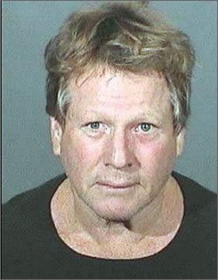 In this photo provided Sept. 17, 2008 by the Los Angeles County Sheriffs Department, actor Ryan O'Neal  is shown in an arrest photo  O'Neal and his son, Redmond, have been charged with possession of methamphetamine in Malibu. Both men are charged with felony drug possession, district attorney James Garrison said Wednesday, Oct. 15, 2008.  (AP Photo/Los Angeles County Sheriffs Department)