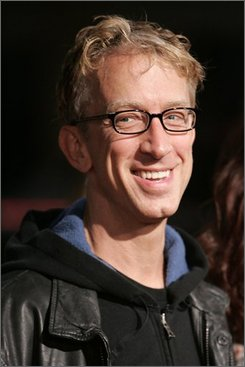 "In this Nov. 11, 2006 file photo, Actor Andy Dick arrives for the premiere of the movie ""The Fountain,"" in Los Angeles. Dick has plead guilty to misdemeanor drug and battery charges. Court records show the ""NewsRadio"" actor did not appear in a Riverside County courtroom on Friday, Oct. 17, 2008 to answer to the charges. His attorney stood in for him. (AP Photo/Danny Moloshok, File)"