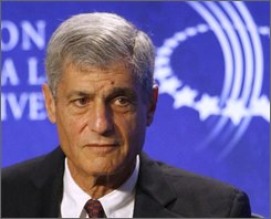 In this Sept. 28, 2007 file photo, former Treasury Secretary Robert E. Rubin listens during a panel discussion, Friday, Sept. 28, 2007, at the Clinton Global Initiative Annual Meeting in New York.  The financial firestorm engulfing the world makes the job of treasury secretary arguably the most important Cabinet post the next president will fill. (AP Photo/Jason DeCrow, file)