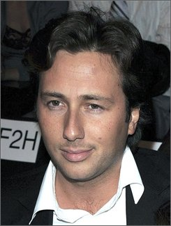 In this Feb. 3, 2008 file photo, Raffaello Follieri is seen at the Miss Sixty 2008 Fall Collection during Fashion Week in New York. Follieri is asking a court to sentence him to three years in prison, rather than the more than four years he agreed to when he admitted scamming the Catholic Church. (AP Photo/Peter Kramer, File)