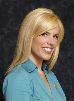 In this photo released by KATV Television Monday, Oct. 20, 2008, news anchor Anne Pressly, 26, is shown in a June 26, 2008, photo in Little Rock, Ark.  Pressly, 26, a popular TV anchorwoman remained in critical condition Monday after she was stabbed and beaten in her home, for reasons not yet known.  (AP Photo/KATV Television)