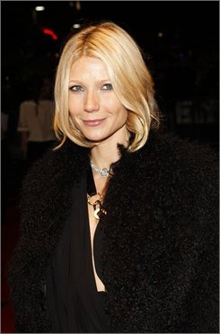 U.S. actress Gwyneth Paltrow arrives for The Times BFI London Film Festival screening of 'Two Lovers' in London, Monday, Oct. 20, 2008. (AP Photo/MJ Kim)